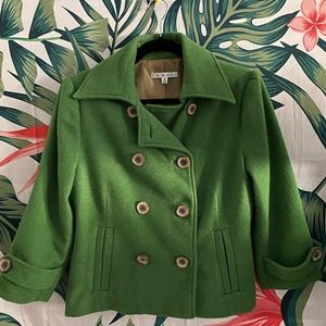 Cabi Peacoat style 659 Green size 6